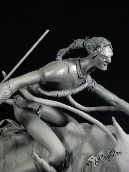 Diorama Jake Sully on Thanator by Taoplayclay 20725210150139952262076