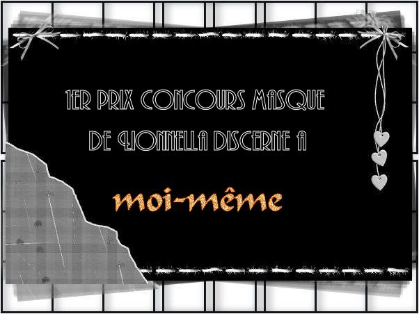 """PRIX CONCOURS """" les masques n°1"""" 1erprixm"""