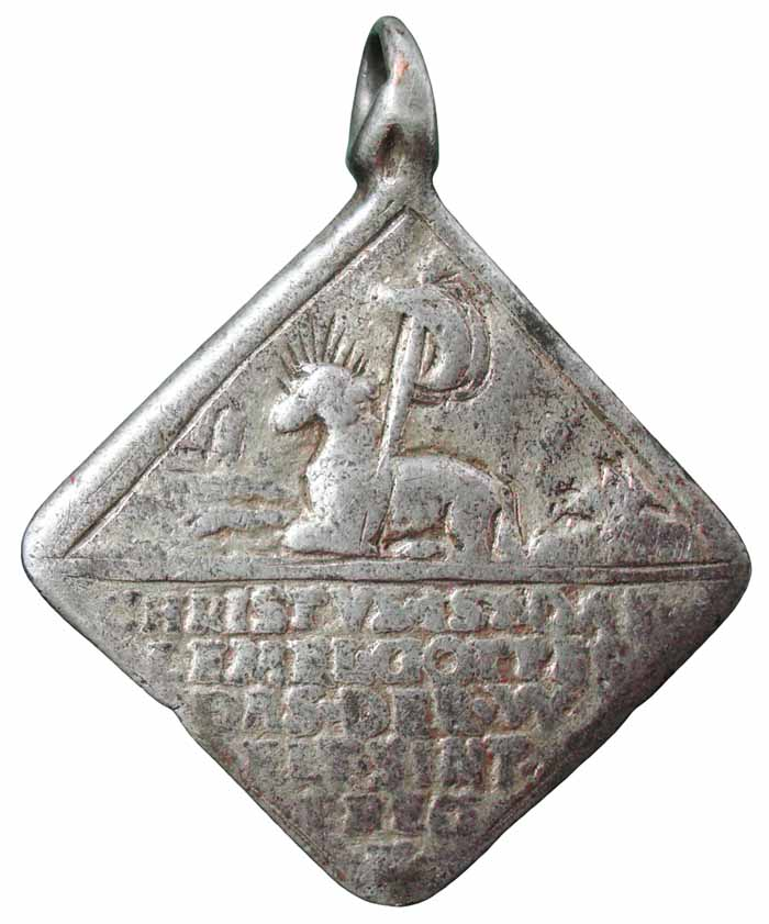 Medalla de Cristo Resucitado / Agnus Dei - s. XVI -1555- MR(250) (R.M. SXVI-Ot2 Mr245c