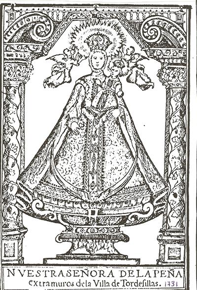 Virgen de la Peña de Tordesillas / S Francisco estigmatizado (R.M SXVIII-P42)(MAM) Peadetordesillas