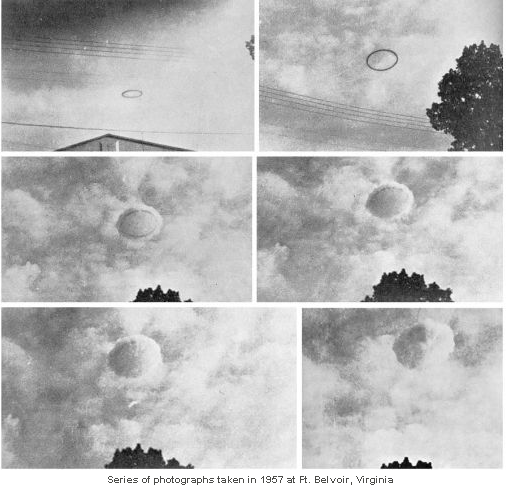 Vidéo d'un anneau noir planant dans le ciel du Kosovo Fortbelvoir1957