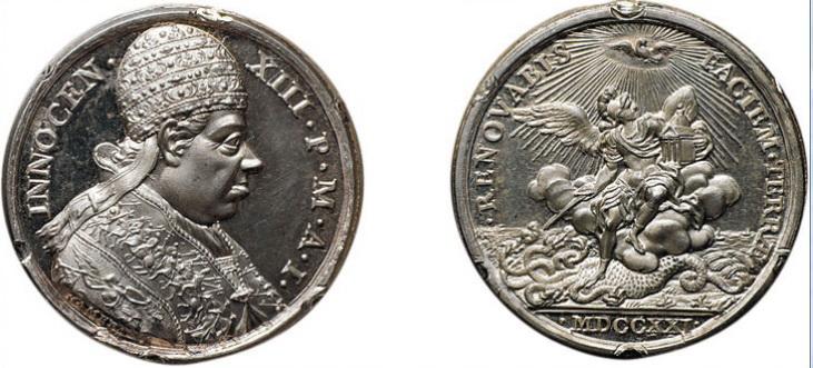 Virgen Dolorosa / San Miguel  S.XVIII (R.M.S.XVIII-030) Hamerani Inocencioxiii
