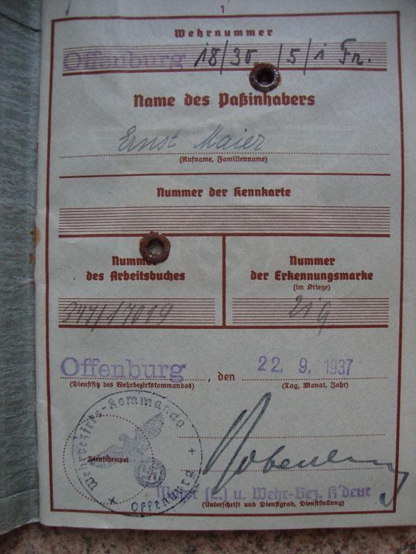 Wehrpass N°4 combat en France Kqhc