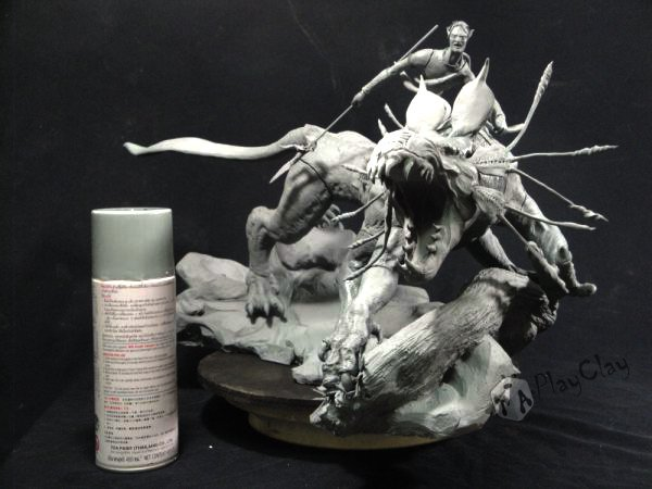 Diorama Jake Sully on Thanator by Taoplayclay 20788510150139960227076
