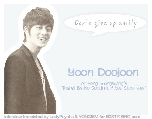 "[11.08.08]  Entrevistas a Yoon Dujun,  Juhyung, Hyunseung y Yoseob en ""There'll be no Spotlight If You Stop Now"" Spotlightydj"