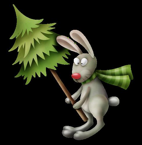 Conejito y Árbol De Navidad Lfmd