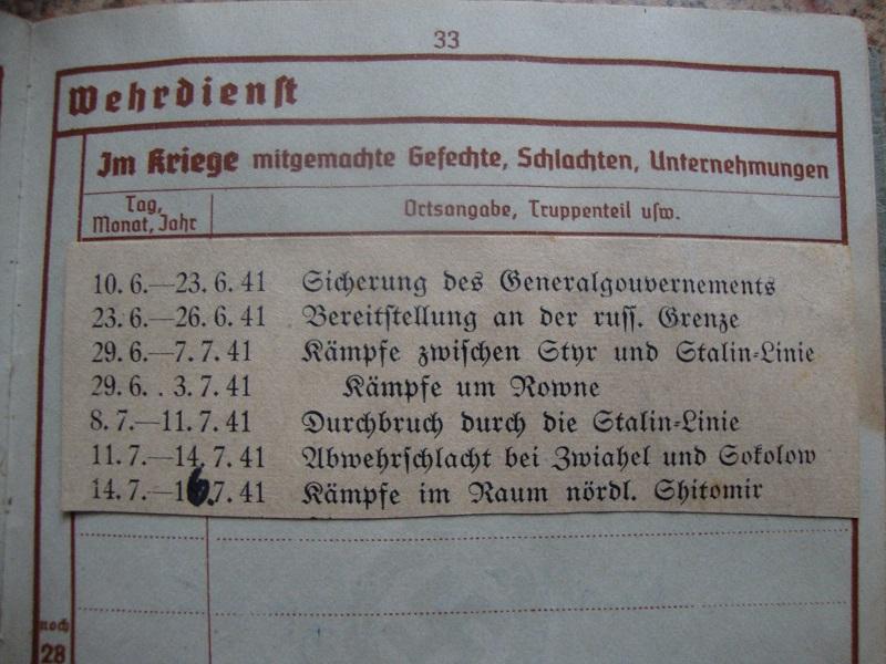 Traduction et identification d 'un Wehrpass et ses papiers 9spk