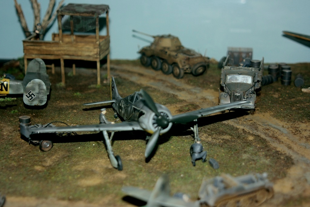 Diorama terrain aviation Luftwaffe 1/48 I40p
