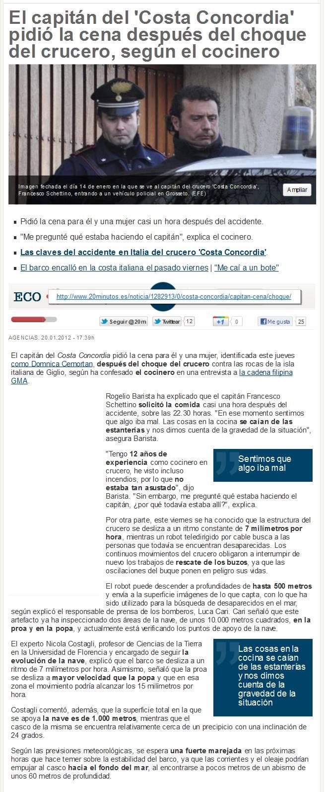 EL CRUCERO CONCORDIA - LA HISTORIA DE 2 CAPITANES Artay