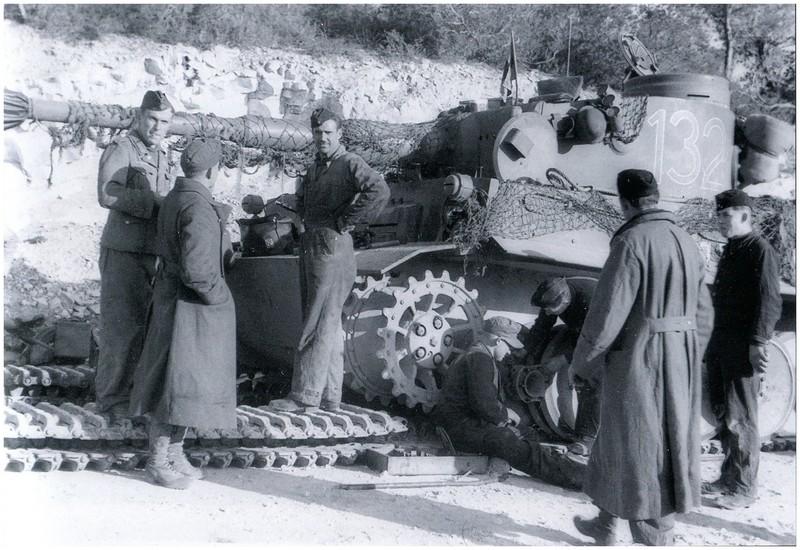 Tiger I du sPzAbt. 501 en Tunisie 1943 Tigerinr132spzabt501tun