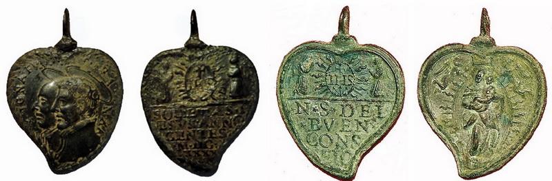 Medalla de Nª Sª del Buen Consejo / Inscripcion - s. XVII O3lx
