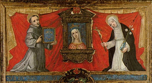 San Bernardino y Santa Catalina de Siena / Madonna de Provenzano S.XVII (R.M. Pe Provenzano 3) Vq4a