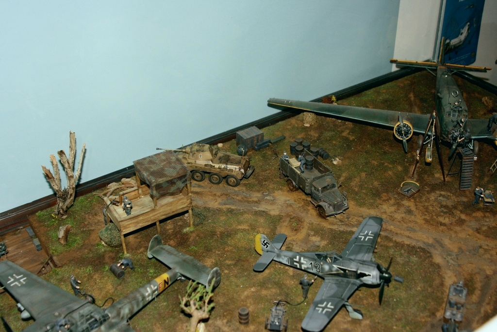 Diorama terrain aviation Luftwaffe 1/48 Lqpg