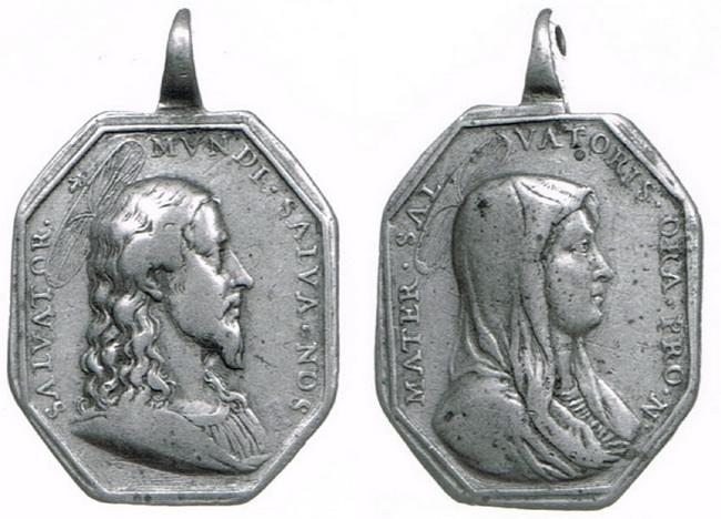 Recopilación medallas con el Rostro de Cristo ( Salvator Mvndi II) 1x6g