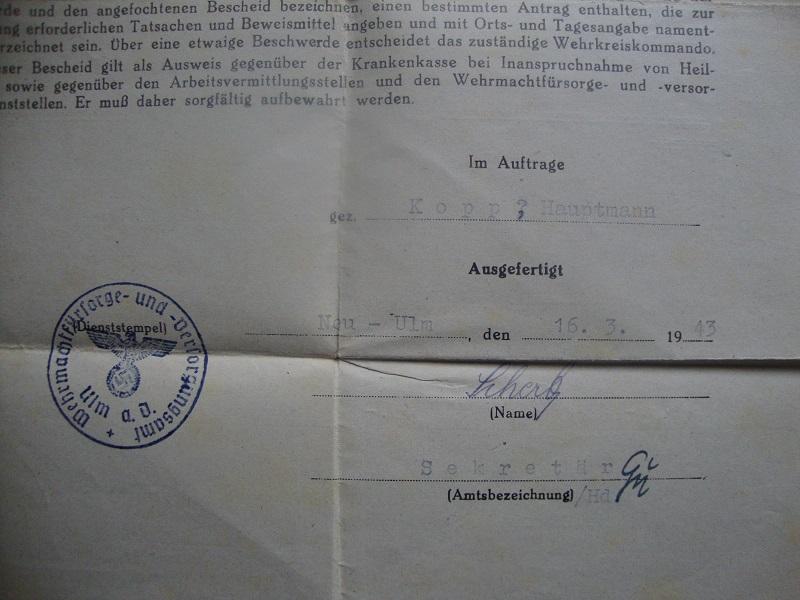 Traduction et identification d 'un Wehrpass et ses papiers V4yg