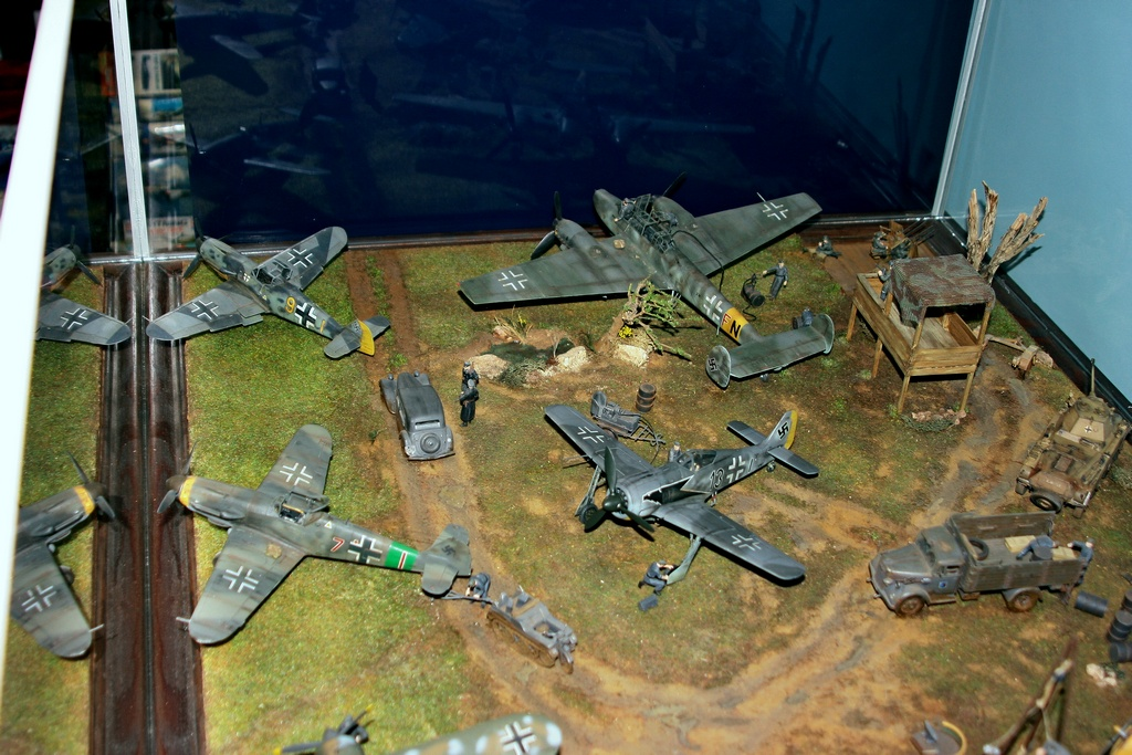 Diorama terrain aviation Luftwaffe 1/48 X0kr