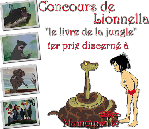 "Prix concours dessin animé ""le livre de la jungle"" 00dessinanime"