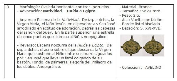ICONOGRAFIA de la NATIVIDAD en las medallas devocionales Ficha3