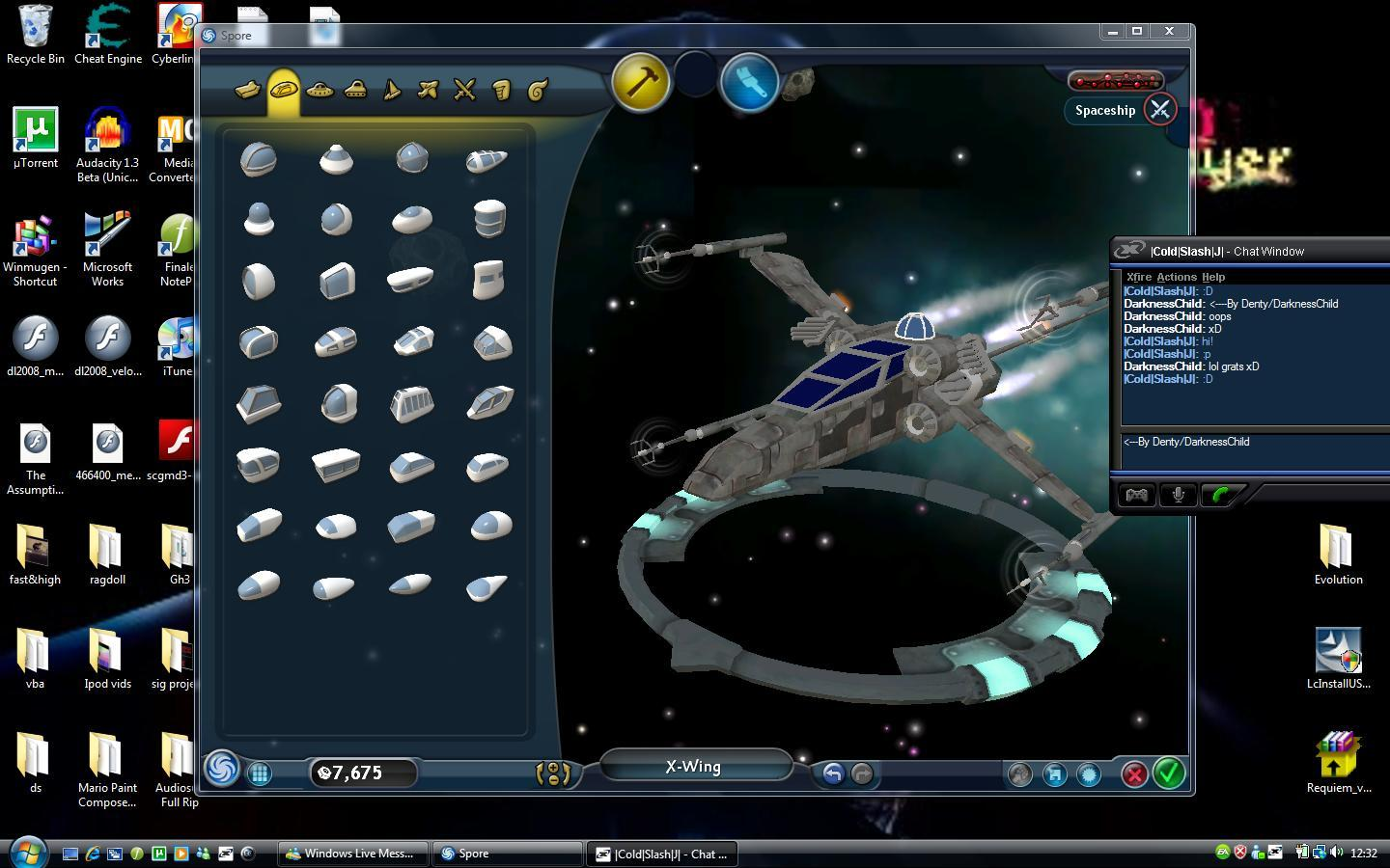 My Spore Creations Xwingn