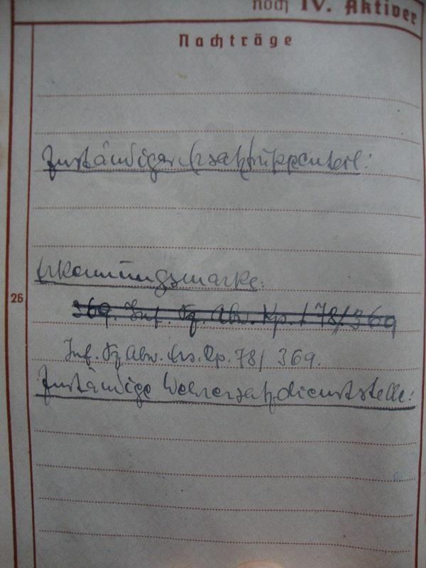 Traduction et identification d 'un Wehrpass et ses papiers Ah0m