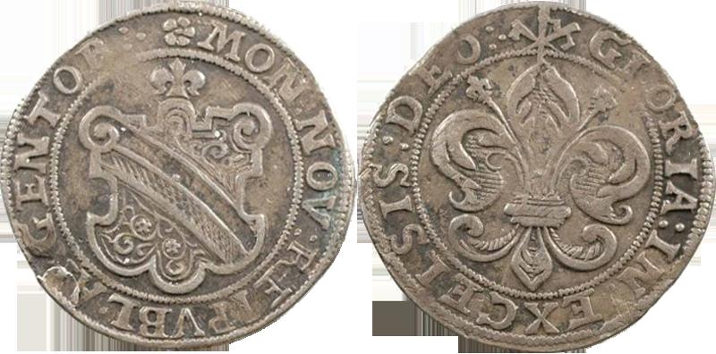 28. Dickpfennig ou Sechsbätzner (1/4 Taler, 24 Kreuzer), après 1615 Dickpfennig24k2