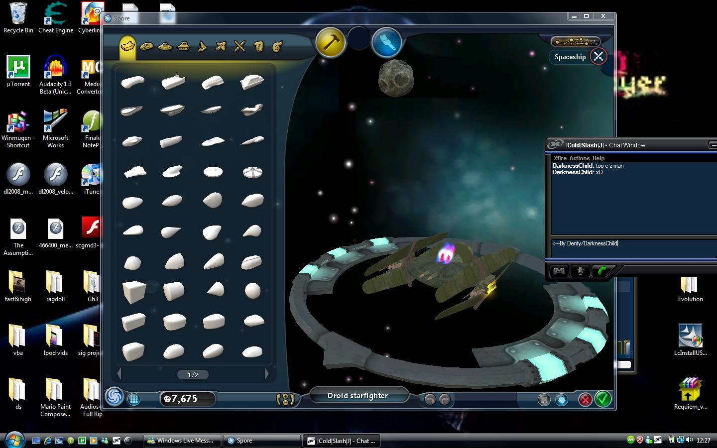 My Spore Creations Droidstarfighter