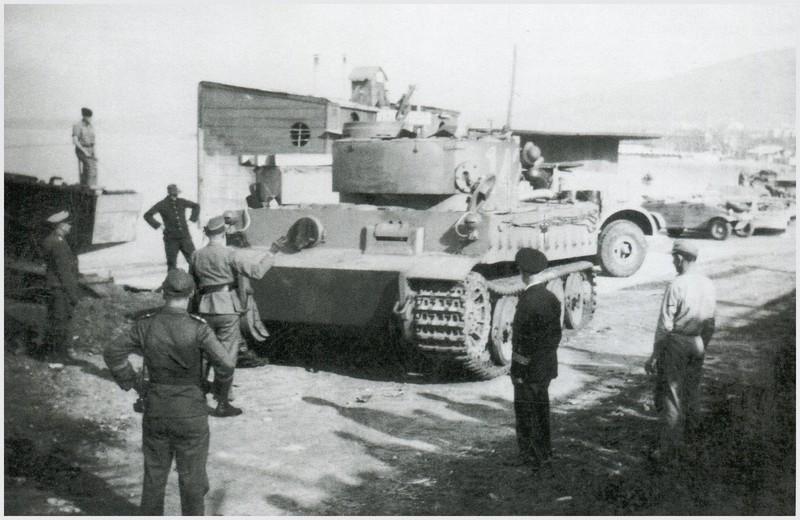 Tiger I du sPzAbt. 501 en Tunisie 1943 Embarquementdestination