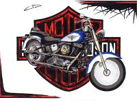 Mes dessins, ma passion, ma vie Dcembre2001harley1ey.th