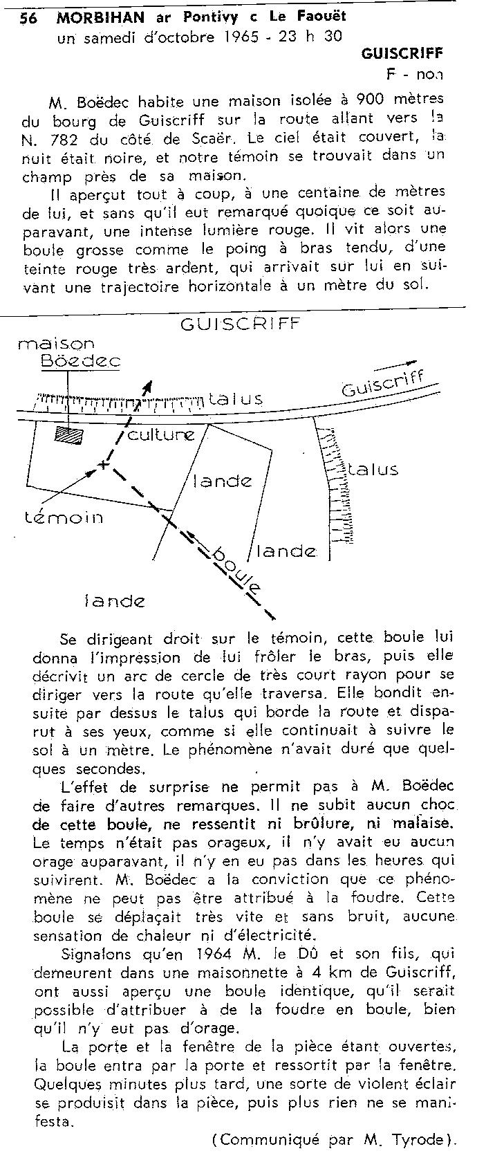 1967: lex /12 à  à la tombé de la nuit- Disques lumineux - Forêt de Pontcalleck (56)  - Page 2 19657