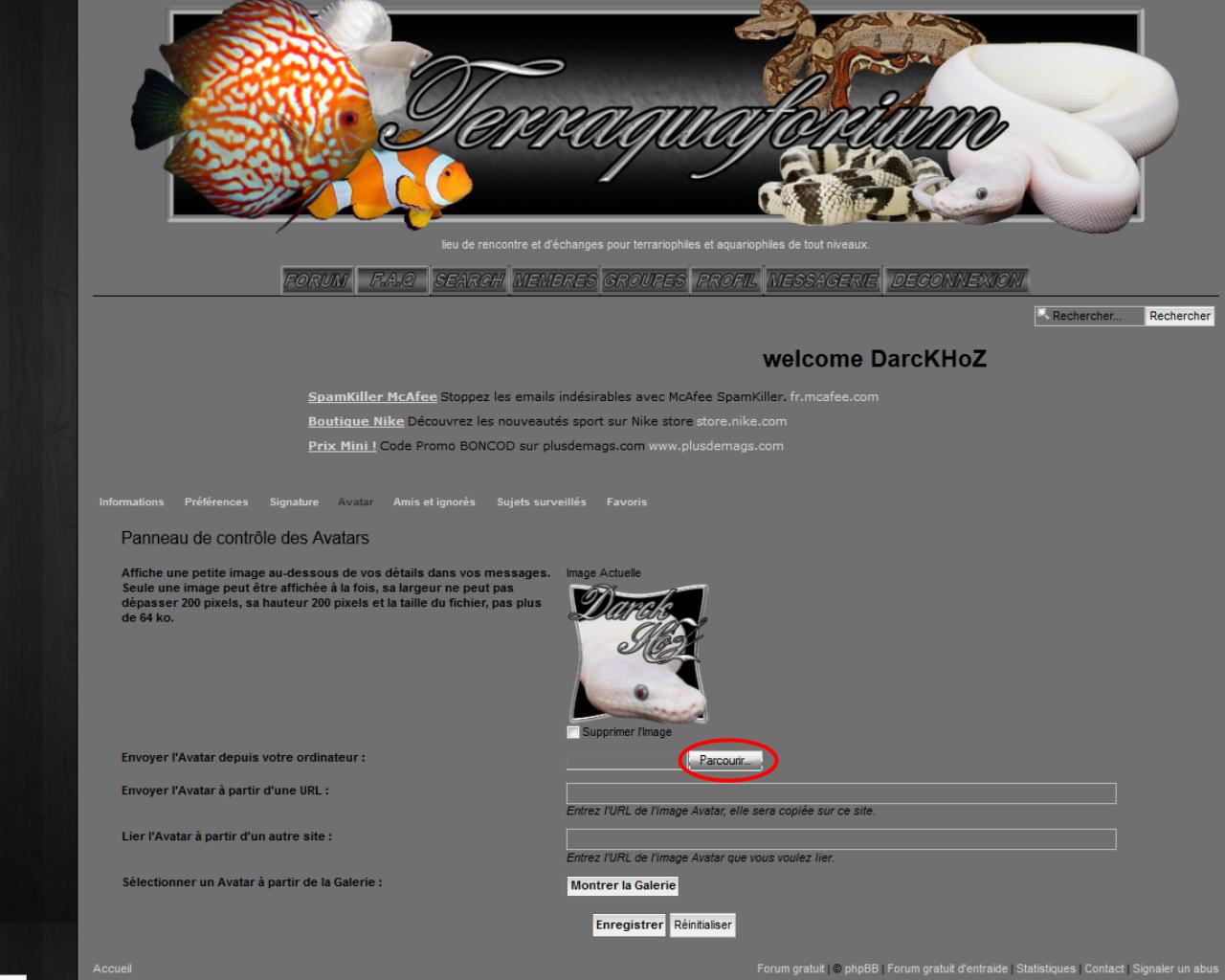 tuto changer son avatar (image de profil) Tutoimageprofilp3