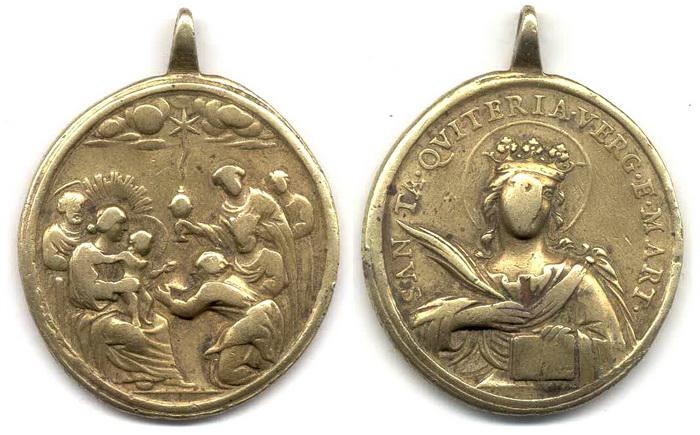 ICONOGRAFIA de la NATIVIDAD en las medallas devocionales Med18pondus
