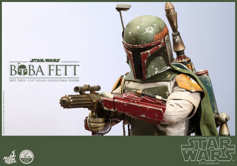 Hot Toys Star Wars - Boba Fett 1/4th Scale figure NMhSuB