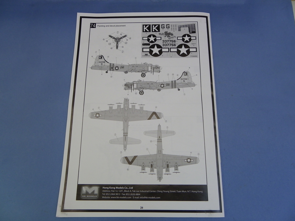 [Revue de Kit] BOEING B-17G - Hong Kong Models - 1/32 Omfe