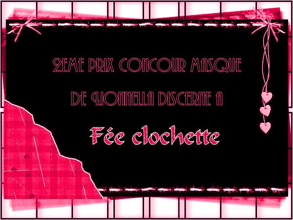 """PRIX CONCOURS """" les masques n°1"""" 2emeprix"""