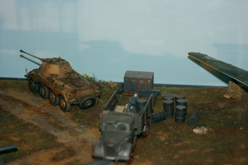 Diorama terrain aviation Luftwaffe 1/48 51ia