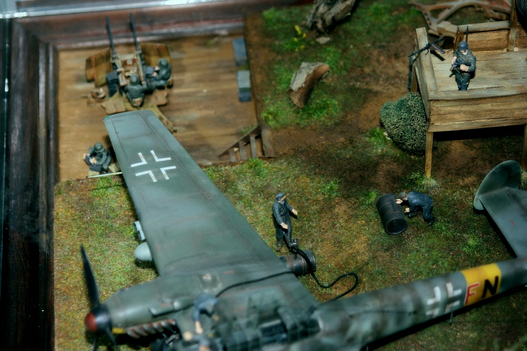 Diorama terrain aviation Luftwaffe 1/48 Lg9l