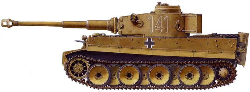 Tiger I du sPzAbt. 501 en Tunisie 1943 Tigerinr141duspzabt501e