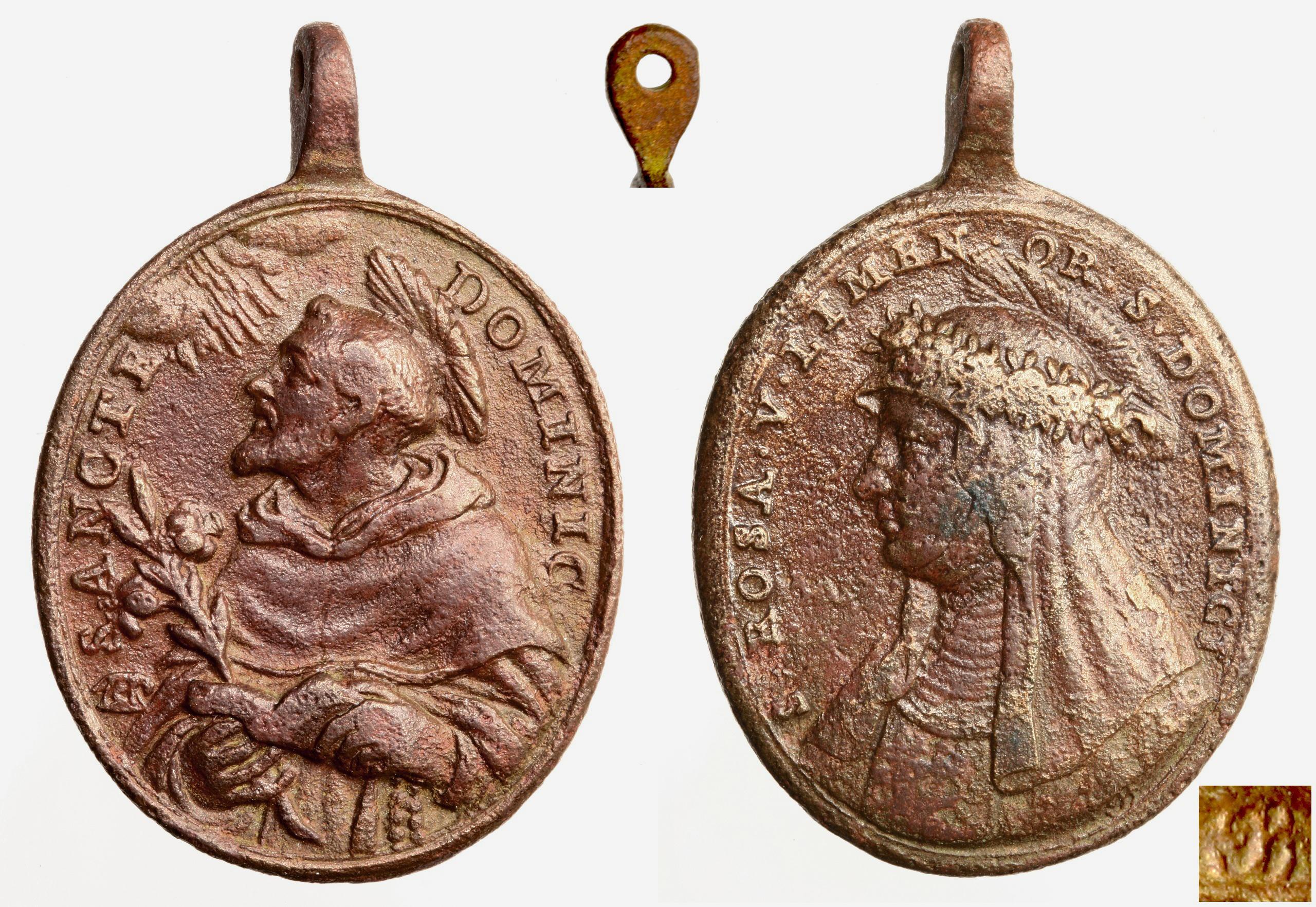 Medalla S. Domingo de Guzmán / Sta Rosa de Lima- Hamerani (R.M. SXVIII-O207) Zzj3