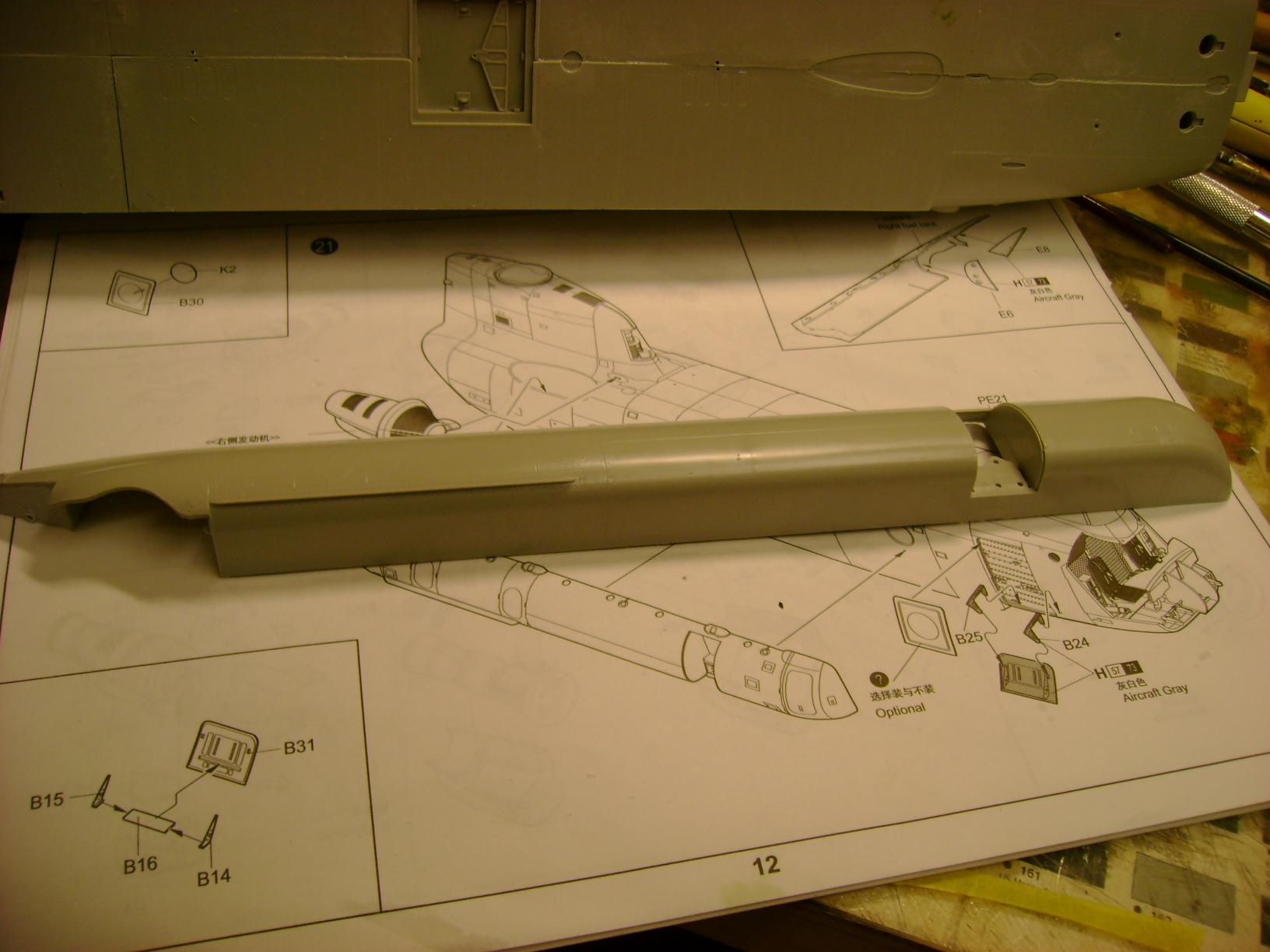 """CH-47D """" Chinook""""....Début de montage...1/35 Trumpeter.Up du 05/05... 95627179"""