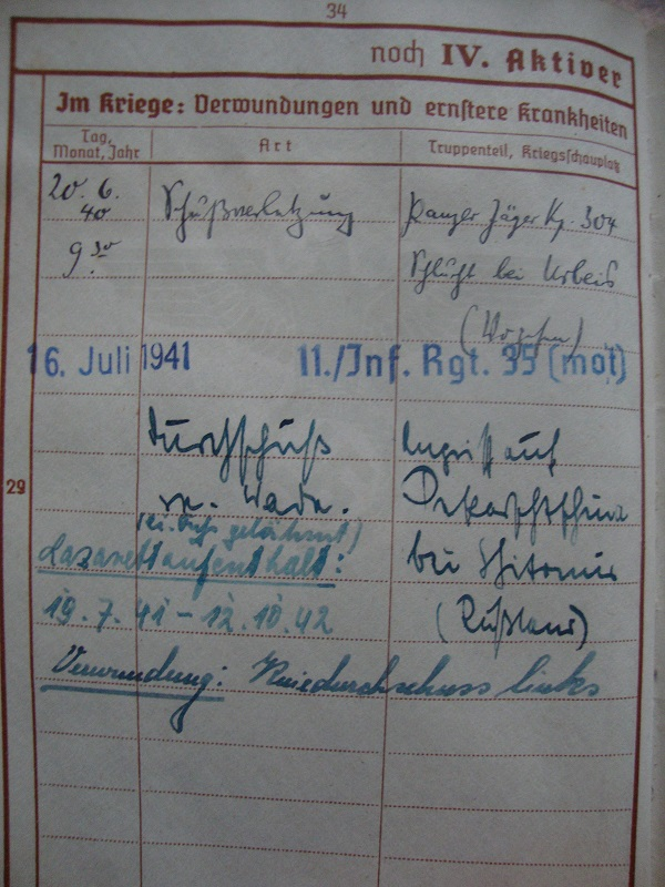 Traduction et identification d 'un Wehrpass et ses papiers X02p