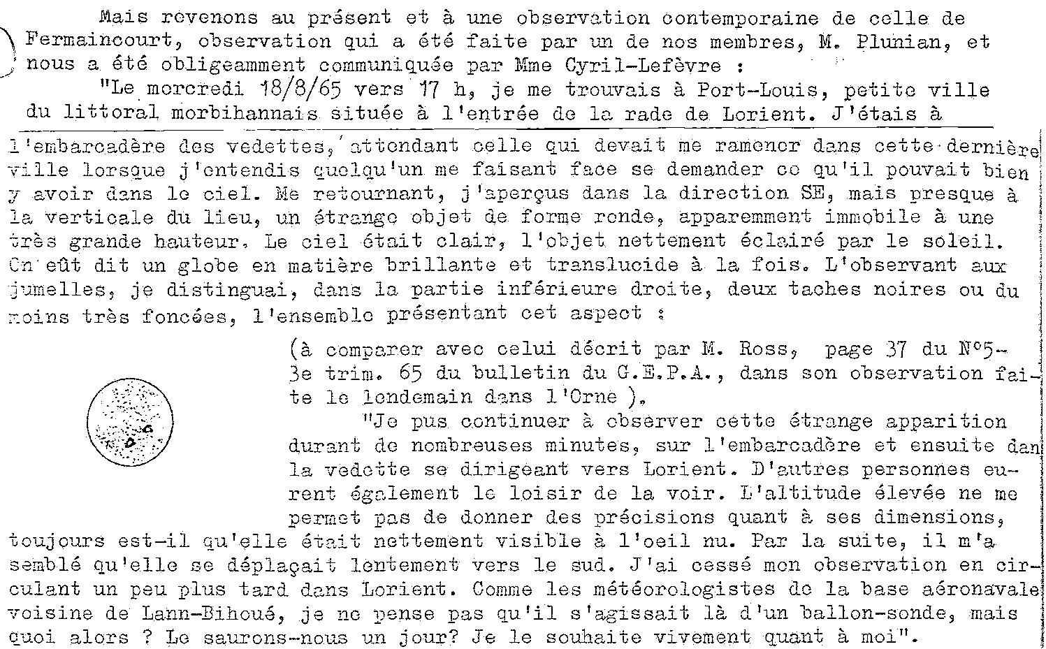 1967: le / à  - Disques lumineux - Forêt de Pontcalleck (56)  - Page 2 19656