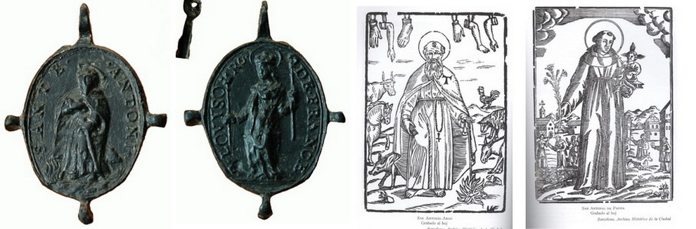 Medalla S Antonio Abad  / S Luis de Francia S. XVII (R.M. Pe Antonio Abad 2) Antonioabadluis11