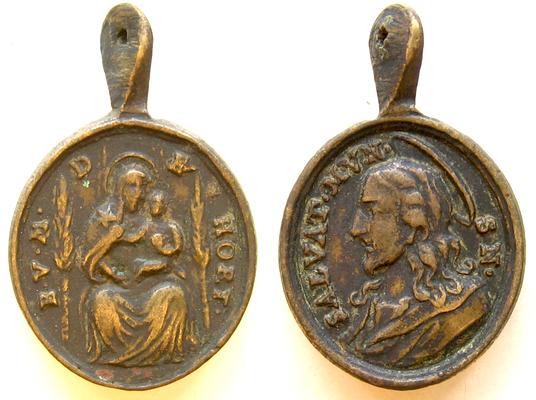 S. Francisco de Asís / Madonna del Horto s. XVII  Horttt3jesucristobrbel1