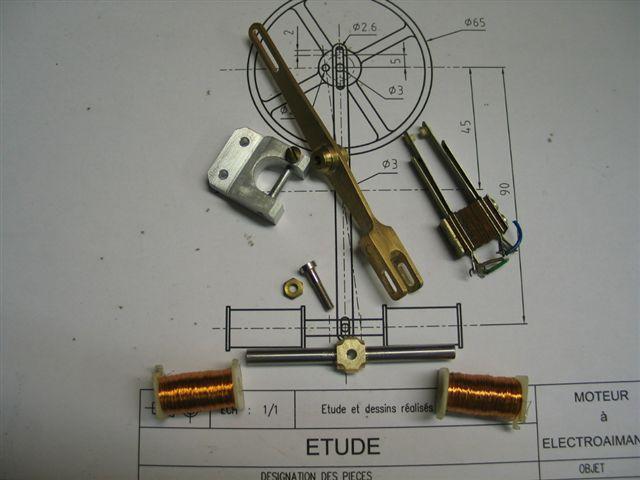 Moteur à electro-aimant inspiré des études de Gustave Clément Dbutdespicespourclement