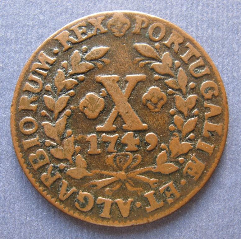 Moneda portuguesa de Jose I Hibrida1749