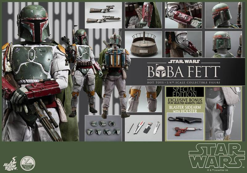Hot Toys Star Wars - Boba Fett 1/4th Scale figure 9ESV90