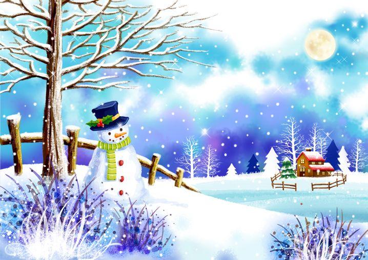Paisaje de Navidad Oacscn