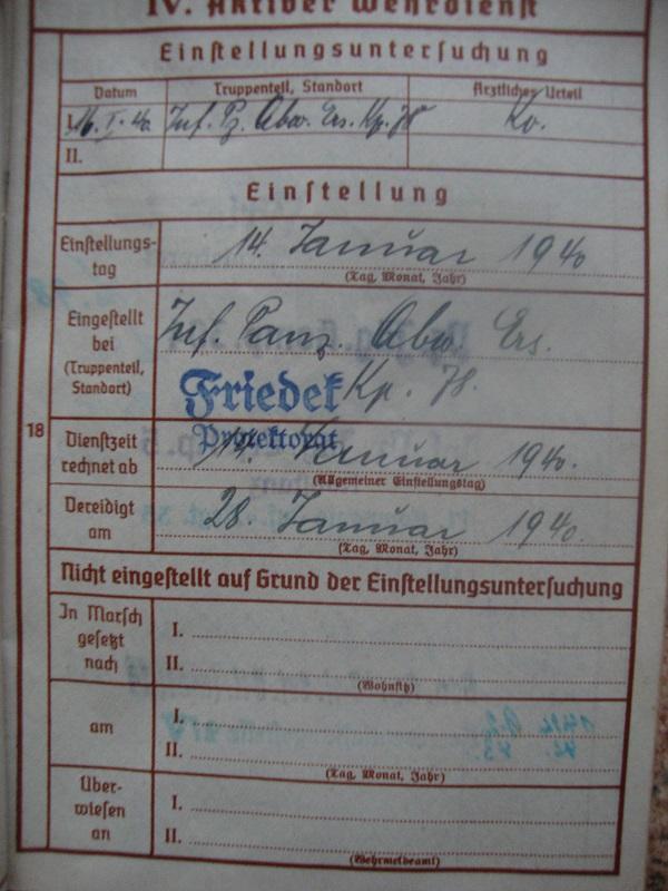 Traduction et identification d 'un Wehrpass et ses papiers 4xx9