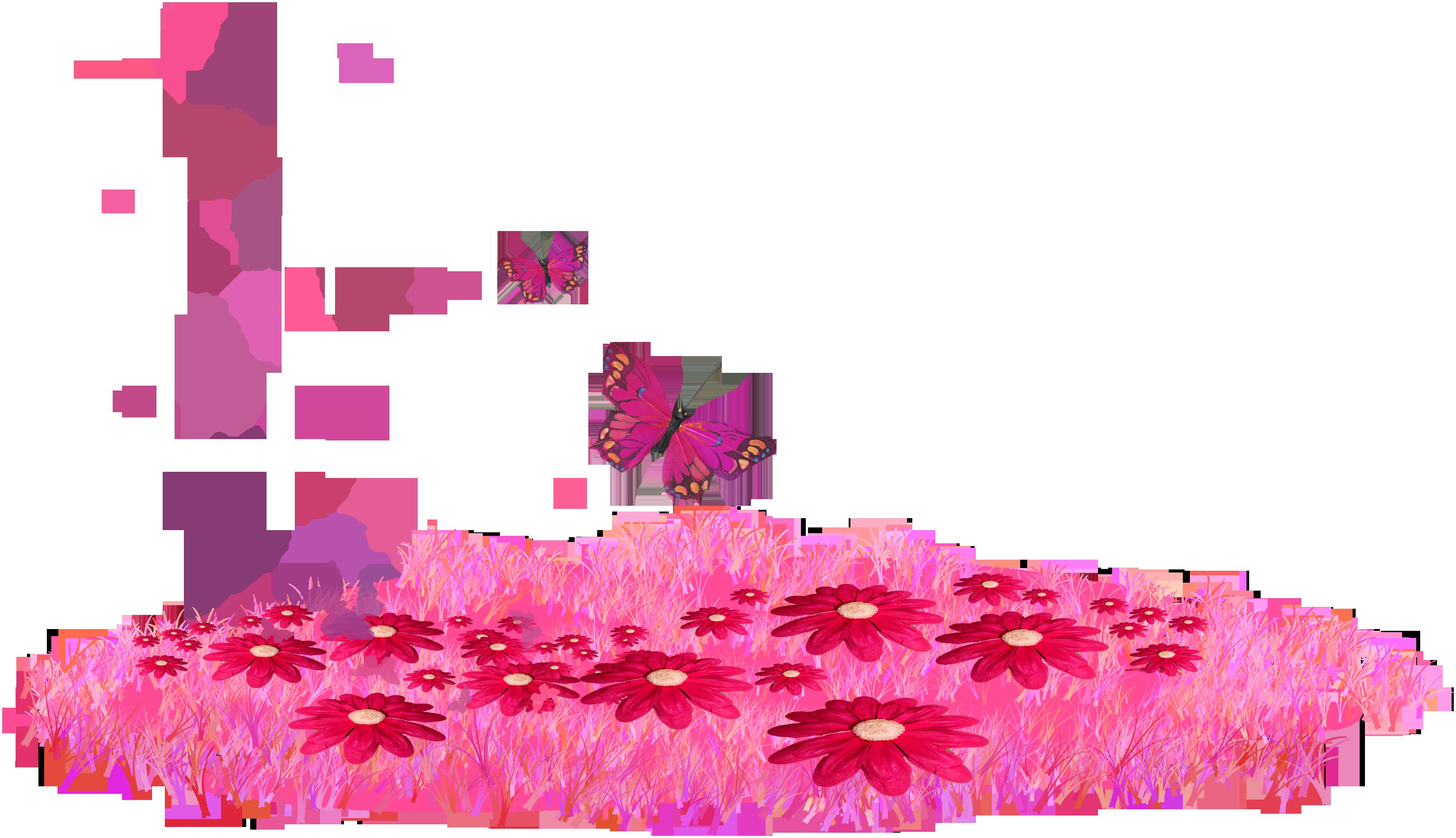 Imagenes Infantiles Cesped Con Flores