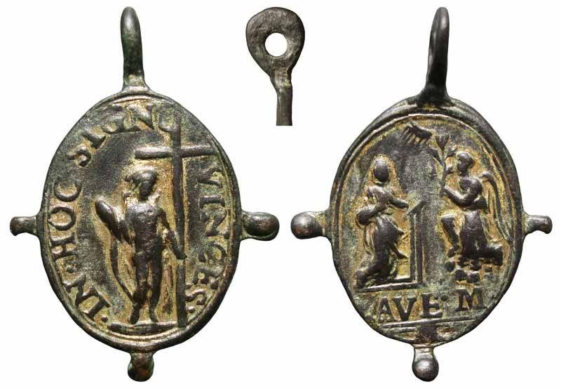 Médaille La Résurrection de Jésus & L'Annonciation à Marie - XVIIème Ressanunc1
